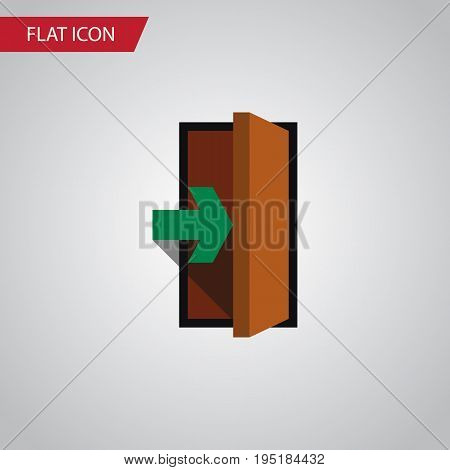 Isolated Entry Flat Icon. Entrance Vector Element Can Be Used For Entry, Entrance, Door Design Concept.