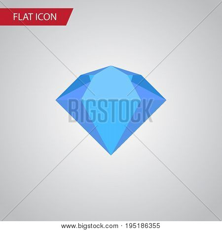 Isolated Jewel Flat Icon. Treasure Vector Element Can Be Used For Jewel, Treasure, Brilliant Design Concept.