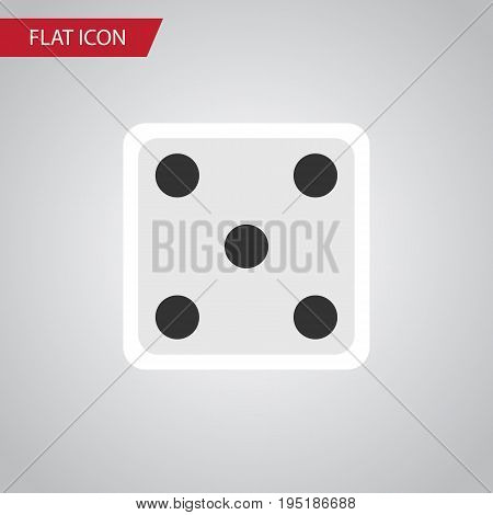 Isolated Dice Flat Icon. Backgammon Vector Element Can Be Used For Gambling, Dice, Backgammon Design Concept.