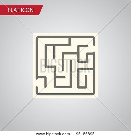 Isolated Maze Flat Icon. Labyrinth Vector Element Can Be Used For Labyrinth, Maze, Lost Design Concept.