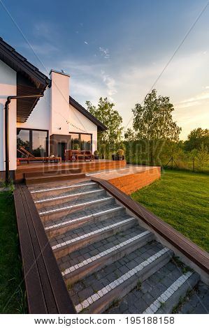 Wooden Patio Steps