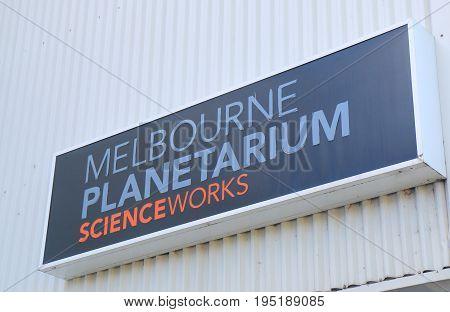 MELBOURNE AUSTRALIA - JULY 1, 2017: Melbourne Planetarium. Melbourne Planetarium is on the site of Scienceworks museum.