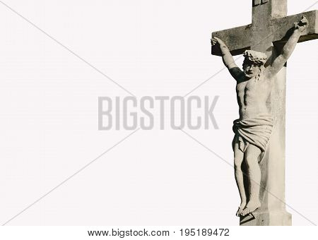 Holy cross with crucified Jesus Christ (Lviv Ukraine)