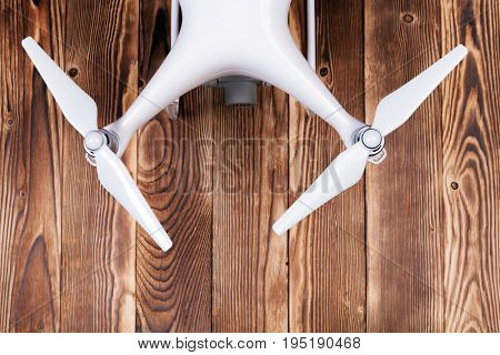 drone isolated on a wood background