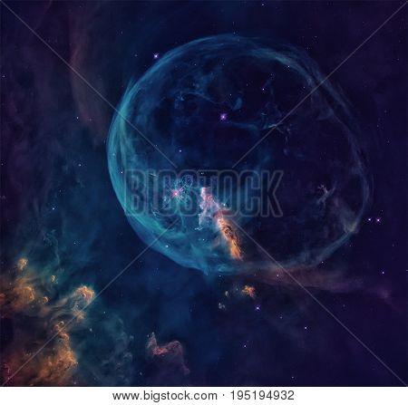 The Bubble Nebula In The Constellation Cassiopeia.
