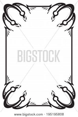 Border frame molding line deco vector label