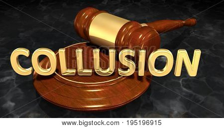 Collusion Law Concept 3D Illustration