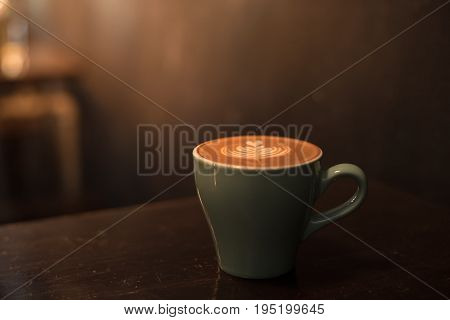 Ceramic Cup Of Hot Coffee