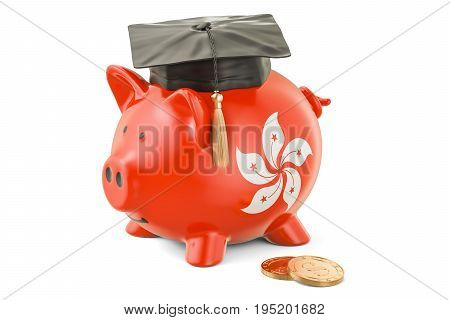 Savings for education in Hong Kong concept 3D rendering isolated on white background