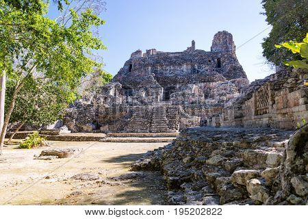 Ruins In Becan, Mexico