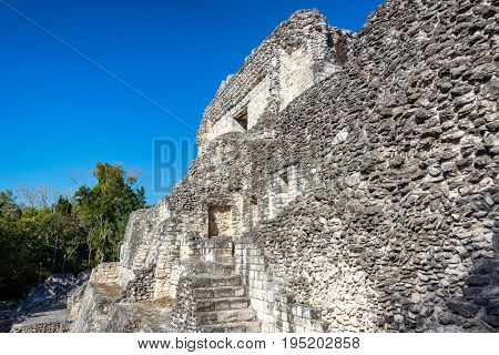 Mayan Ruins In Becan, Mexico