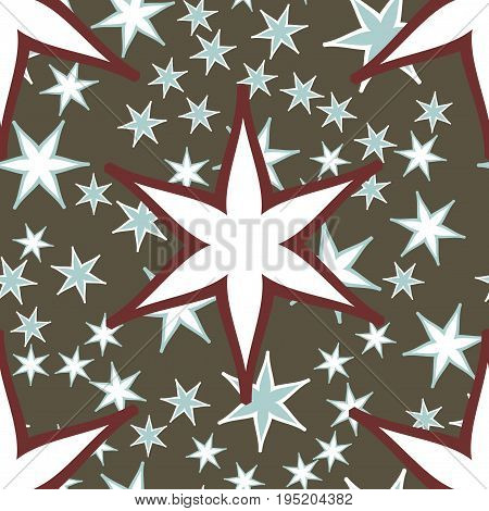 Star Tiles seamless pattern fabric. Colorful patchwork for print on furniture, wallpaper, fashionable textile.Endless design elements Unusual ornament.Vector oriental asian arabic mandala decoration