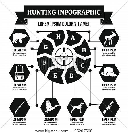 Hunting infographic banner concept. Simple illustration of hunting infographic vector poster concept for web