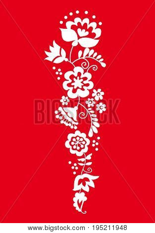 traditional european ukrainian ornament. rustic floral wedding composition. rural folk style flower element.