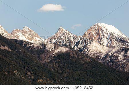 Steep Mountain Peaks