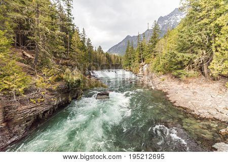 Whitewater River In Glacier National Park