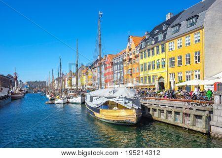 View Of Nyhavn In Copenhagen City, Denmark
