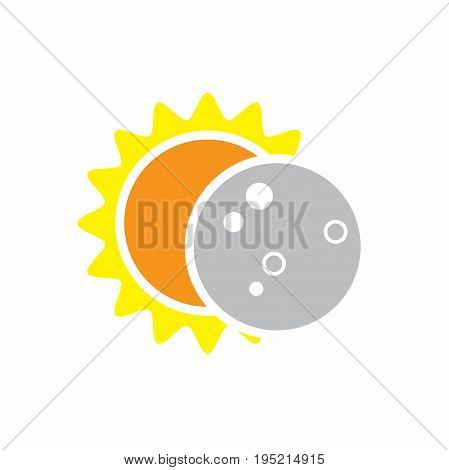 Total Solar Eclipse Icon for August 8 2017