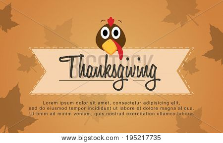 Background Thanksgiving style collection stock vector illustration