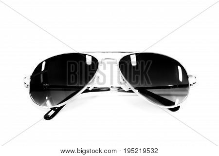 eyes glasses black color on white background