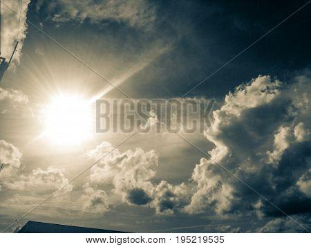 sky white black could before rain during sunlight