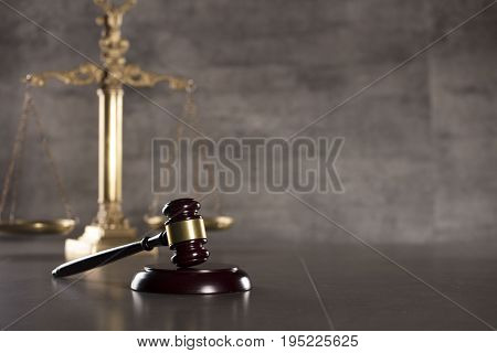 Tax law. Modern law concept. Business and finance. Gray background.