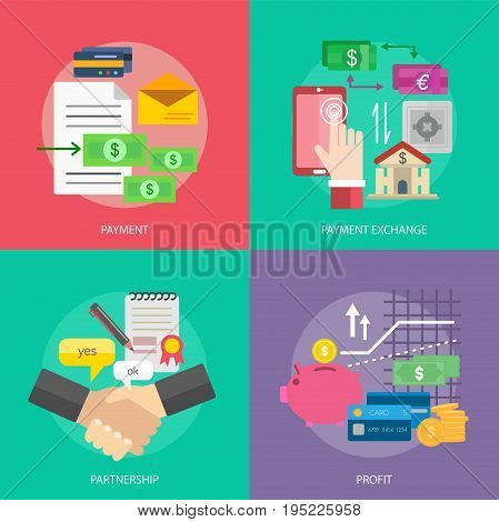 Business and Finance Conceptual Design   Set of great flat design illustration concepts for business, finance, marketing and much more.