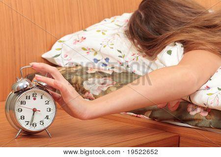 switch off an alarm clock