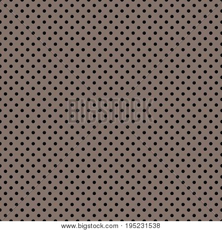 The polka dot pattern. Seamless vector illustration with round circles, dots. Black and brown. Vector illustration in retro, vintage style print on fabric, textile, wrapping, Wallpaper, scrap-booking.