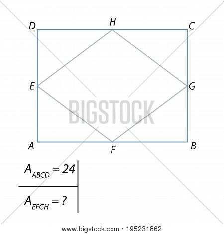 Vector illustration of the problem of finding the area of a quadrilateral-01