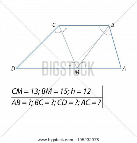 Vector illustration of the problem of finding the trapezoid sides-01