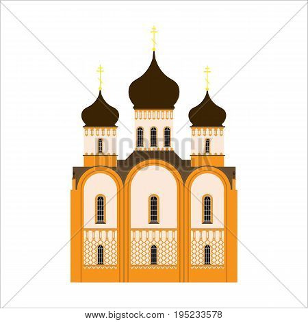A simple icon of the Orthodox Church for Easter eggs or greeting cards