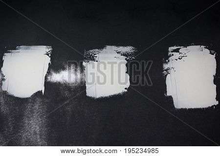 abtract of white putty on the black metal for background used