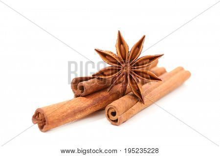 star anise and cinnamon stick
