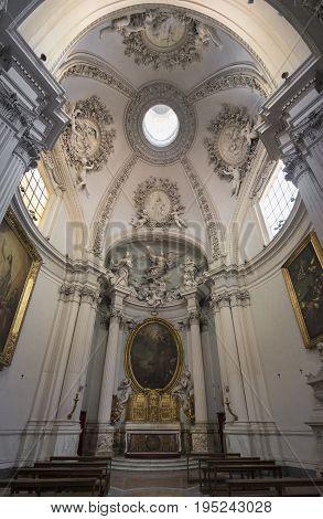 Basilica di San Giovanni in Laterano (St. John Lateran basilica) in Rome. Interior. Rome Italy June 2017