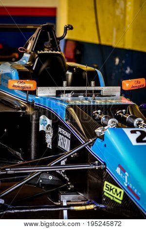 Vallelunga, Rome, Italy. June 24 2017. Italian Formula 4 Championship, Jenzer Motorsport Team Car In