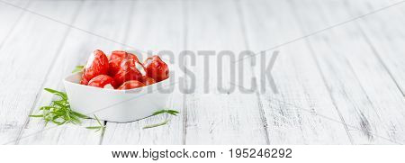 Red Pepper (stuffed With Cheese) On Wooden Background (selective Focus)