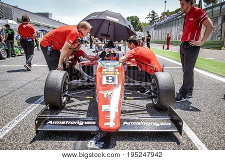 Vallelunga, Rome, Italy. June 24 2017. Italian Formula 4 Abarth  Championship, Marcus Armstrong Befo