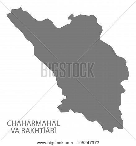 Chaharmahal Va Bakhtiari Iran Region Map Grey Illustration Silhouette Shape