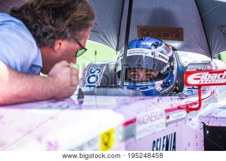 Vallelunga, Rome, Italy. June 24 2017. Italian Formula 4 Abarth  Championship, Sophia Floersch Drive