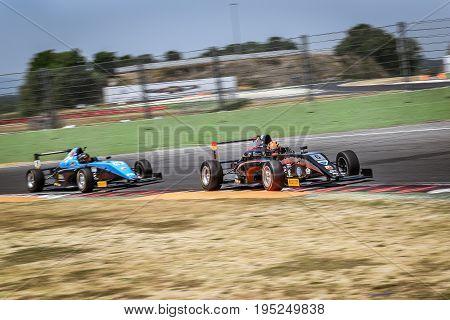 Vallelunga, Rome, Italy. June 24 2017. Italian Formula 4 Abarth Championship, Driver Lorenzo Colombo