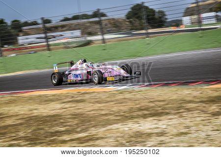 Vallelunga, Rome, Italy. June 24 2017. Italian Formula 4 Abarth Championship, Driver  Lirim Zendeli