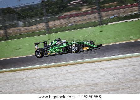 Vallelunga, Rome, Italy. June 24 2017. Italian Formula 4 Abarth Championship, Driver Ian Rodriguez D