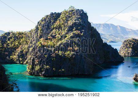 landscape of Coron Busuanga island Palawan province Philippines