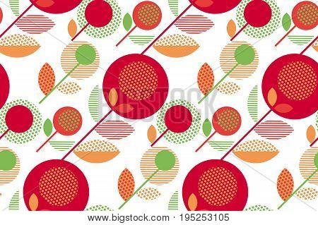 pastel color 60s floral retro pattern. geometry decorative style vintage flower seamless motif. vector illustration