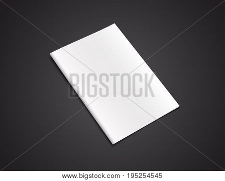Blank Brochure Template On A Black Background.