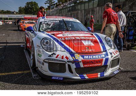 Vallelunga, Rome, Italy. June 24 2017. Italian Porsche Carrera Cup Enrico Fulgenzi Racing Driver On