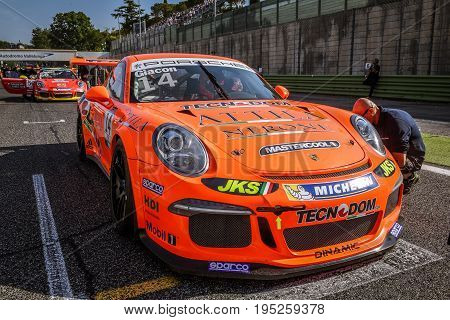 Vallelunga, Rome, Italy. June 24 2017. Italian Porsche Carrera Cup Jonathan Giacon Racing Driver On