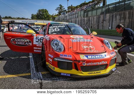 Vallelunga, Rome, Italy. June 24 2017. Italian Porsche Carrera Cup Niccolò Mercatali Racing Driver O