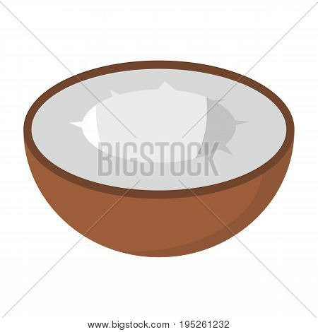 Coconut design juicy fresh fruit icon vector template. Raw coconut. Eco bio health food